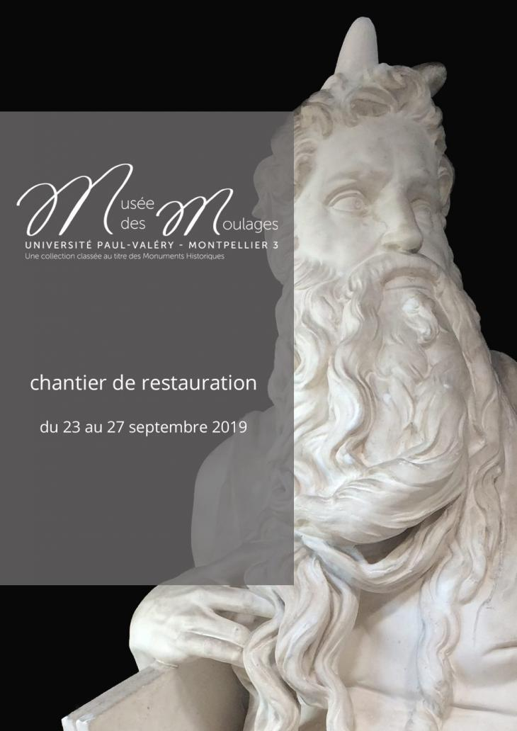 Affiche chantier de restauration MDM