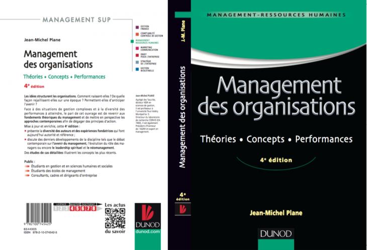 couverture du livre management des organisations