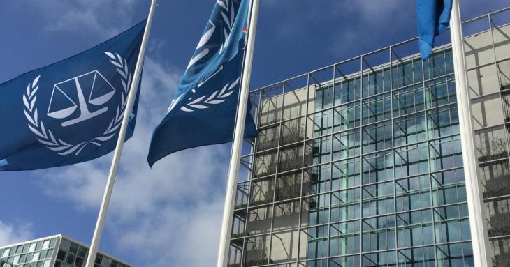 drapeau de la cour pénale international