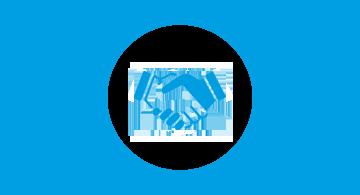 logo de CONPERE : poignée de mains