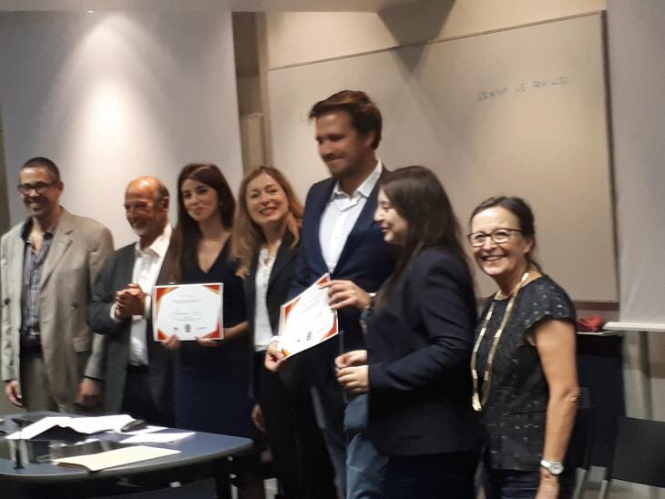 photo de la remise du prix IAS-SOPRA 2017